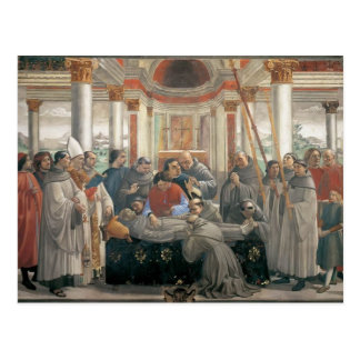 Domenico Ghirlandaio: The Death of St. Francis Postcard
