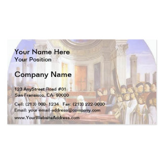 Domenico Ghirlandaio: The Funeral of St. Fina Double-Sided Standard Business Cards (Pack Of 100)
