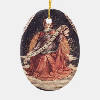 Domenico Ghirlandaio: Una sibila Adorno Ovalado De Cerámica