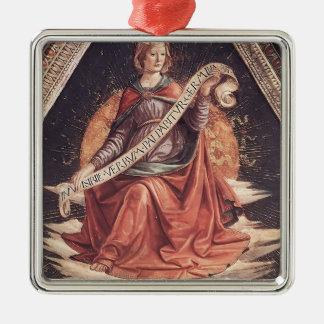 Domenico Ghirlandaio: Una sibila Adorno Cuadrado Plateado