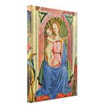 Domenico Veneziano - el niño y los santos de la Vi Impresión En Lona