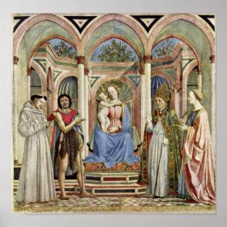 Domenico Veneziano - Virgin and Child with Saints Poster
