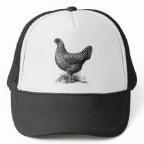 domenique hen trucker hat