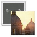 Domes of San Carlo al Corso Church and St. 2 Button