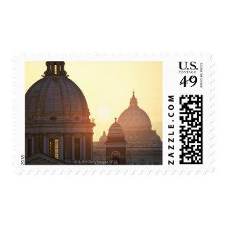 Domes of San Carlo al Corso Church and St. 2 Postage Stamp