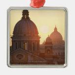 Domes of San Carlo al Corso Church and St. Metal Ornament
