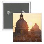 Domes of San Carlo al Corso Church and St. Pinback Button