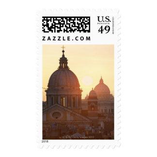Domes of San Carlo al Corso Church and St. Postage Stamps