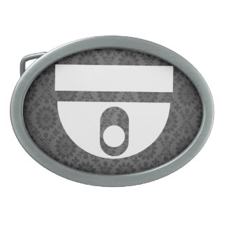 Domes Pictogram Oval Belt Buckles