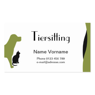 Domestic animal care Double-Sided standard business cards (Pack of 100)