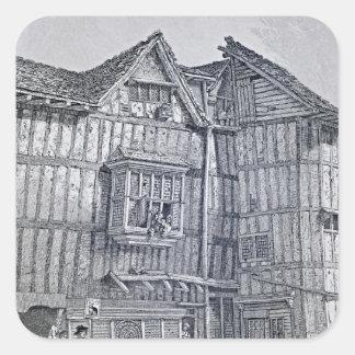 Domestic Architecture, 1791 Square Sticker