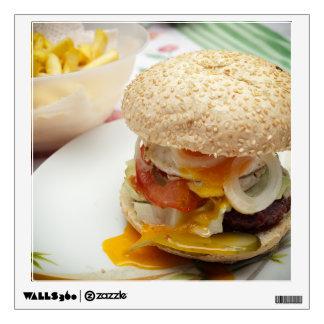 Domestic burger wall decal