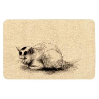 Domestic Cat Japanese Drawing Premium Flexi Magnet