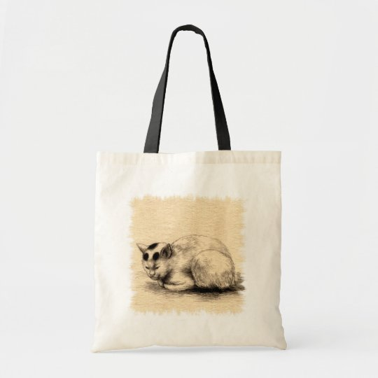 Domestic Cat Japanese Ink Drawing Bag