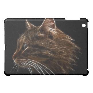 Domestic Cat Kitten Head Fractal Profile Case For The iPad Mini