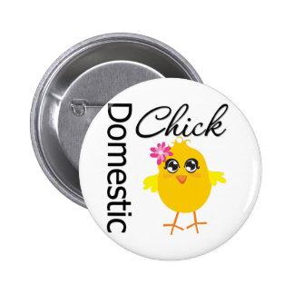 Domestic Chick 2 Inch Round Button