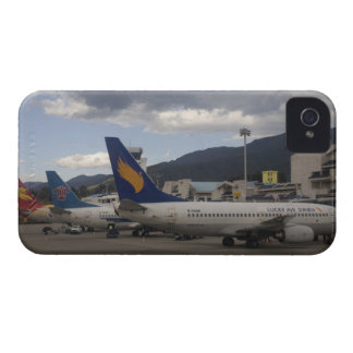 Domestic Chinese jet airliners lined up at Blackberry Case