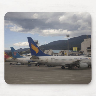 Domestic Chinese jet airliners lined up at Mouse Pad