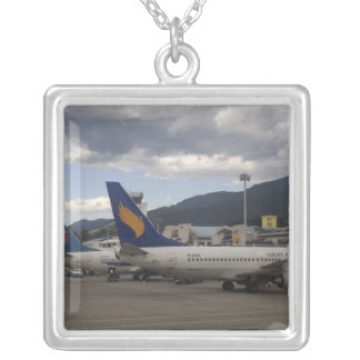 Domestic Chinese jet airliners lined up at Silver Plated Necklace