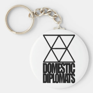 "Domestic Diplomats 2.25"" Button Keychain"