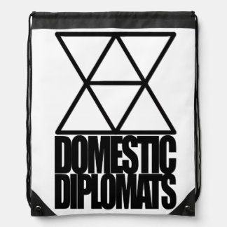 Domestic Diplomats Drawstring Backpack