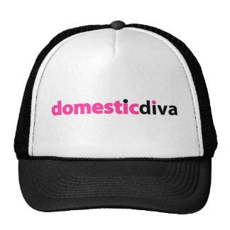 domestic diva (black) trucker hats