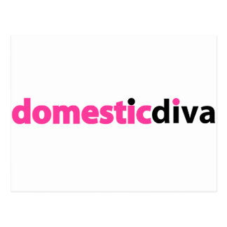 domestic diva (black) postcard