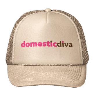 domestic diva (brown) trucker hat