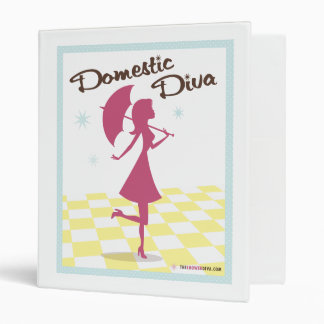 "Domestic Diva Recipe 1"" Binder"