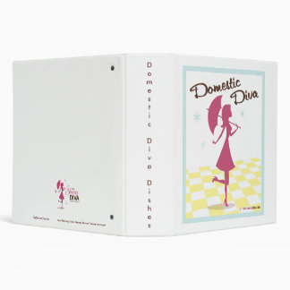 "Domestic Diva Recipe 2"" Binder"