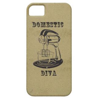Domestic diva retro vintage kitschy funny print iPhone SE/5/5s case