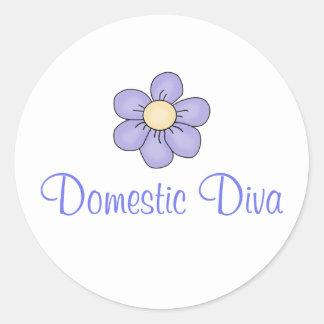 Domestic Diva Classic Round Sticker