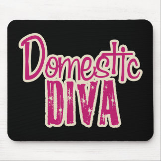 Domestic Diva Vintage Chic Mouse Pad