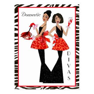 """Domestic Divas"" African American Postcards"