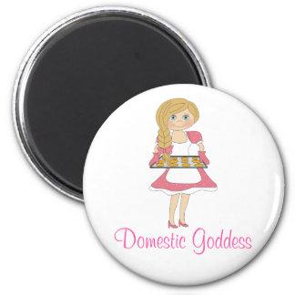 Domestic Goddess (blonde) 2 Inch Round Magnet