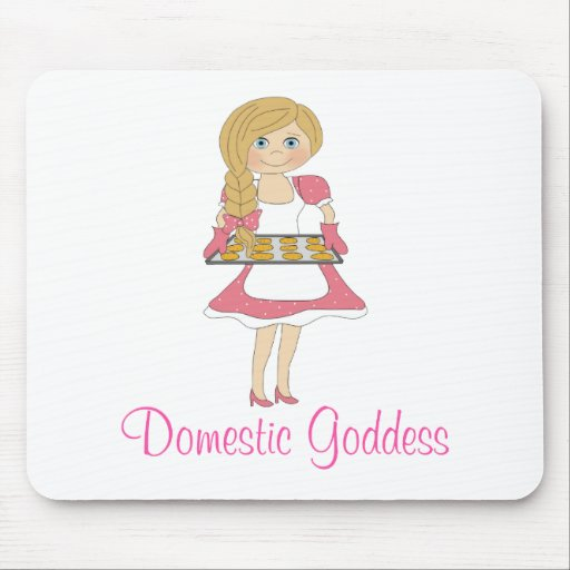 Domestic Goddess (blonde) Mouse Pad