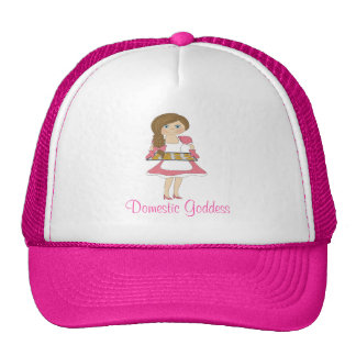 Domestic Goddess (brown hair) Trucker Hat