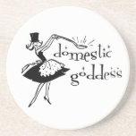 Domestic Goddess Coaster Drink Coasters