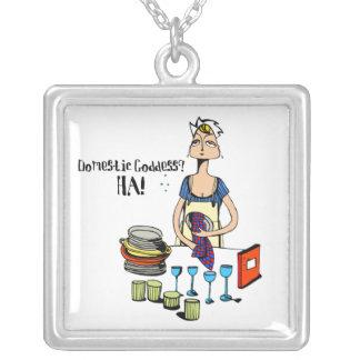 Domestic Goddess? HA! Necklace