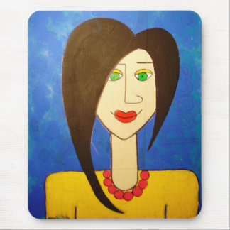 Domestic Goddess in Blue Mouse Pad