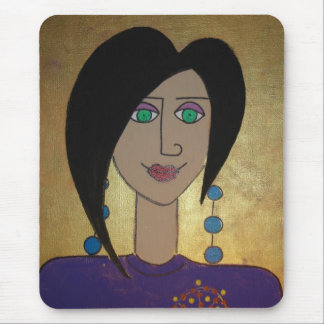 Domestic Goddess in Gold & Purple Mouse Pad