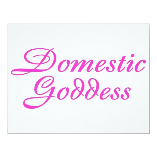 Domestic Goddess Pink Card