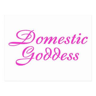 Domestic Goddess Pink Postcard