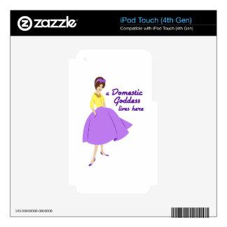 Domestic Goddess iPod Touch 4G Skins