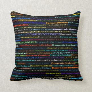Domestic Goddess Text Design I Throw Pillow