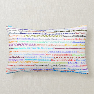 Domestic Goddess Text Design II Lumbar Pillow