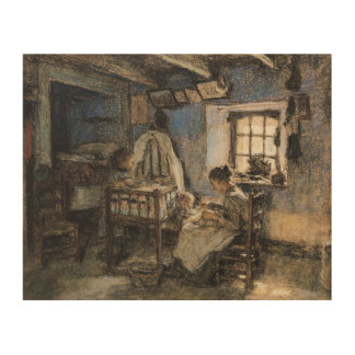 Domestic Interior, Wissant, 1913 Wood Wall Decor