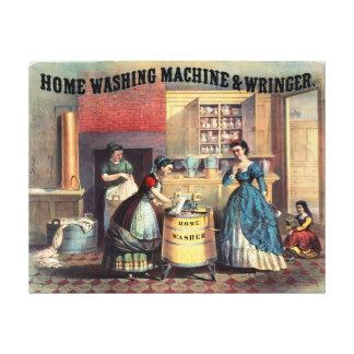 Domestic Kitchen Vintage Painting Canvas Print
