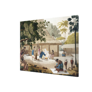 Domestic life in Kupang, Timor, plate 10 from 'Le Canvas Print