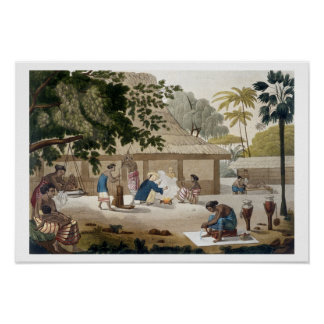 Domestic life in Kupang, Timor, plate 10 from 'Le Poster